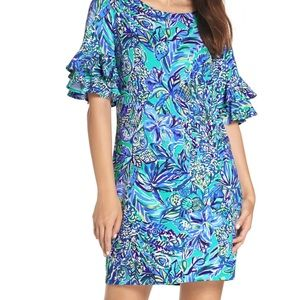 Lilly Pulitzer Dresses - Lilly Pulitzer Lula Dress with Flounced Sleeves
